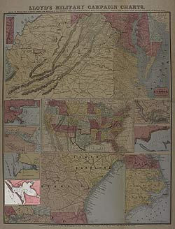 Lloyd's Military Campaign Charts: Galveston Bay